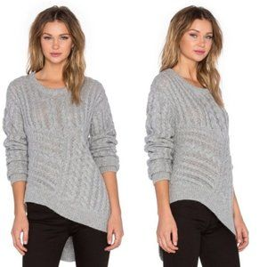 One Teaspoon Sovereign Wool Blend Knit Grey NWT